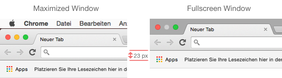 Why the New Fullscreen Button in Mac OS X Yosemite Is Bad - 0815 Blog