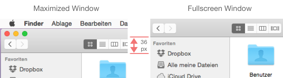 Maximized vs. fullscreen window in Finder