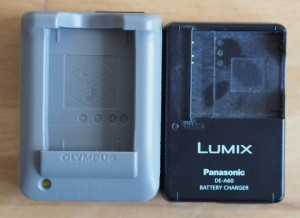 Olympus charger footprint compared to some Panasonic charger